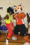 WhoDey and Bobo the Clown provided some entertainment